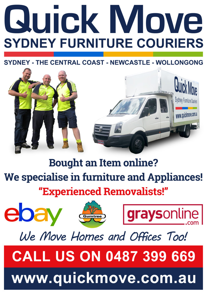 Quick move sydney ebay furniture delivery service courier for Furniture courier