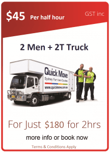Two Men Removals Promotion